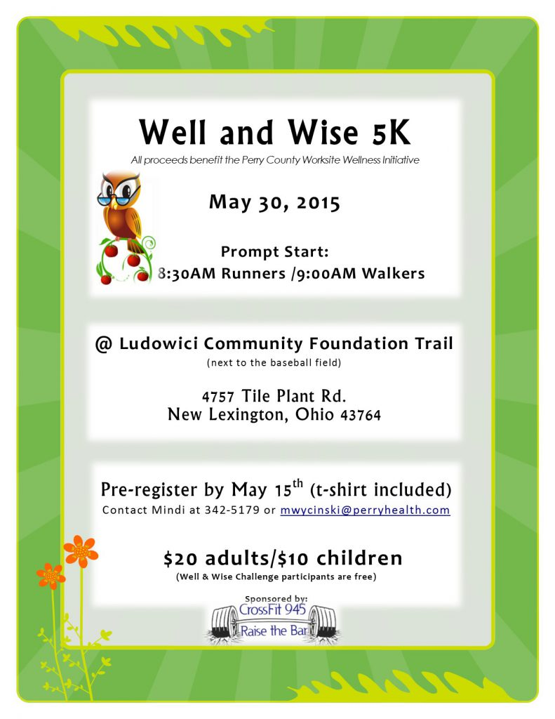 Well and Wise 5K flyer