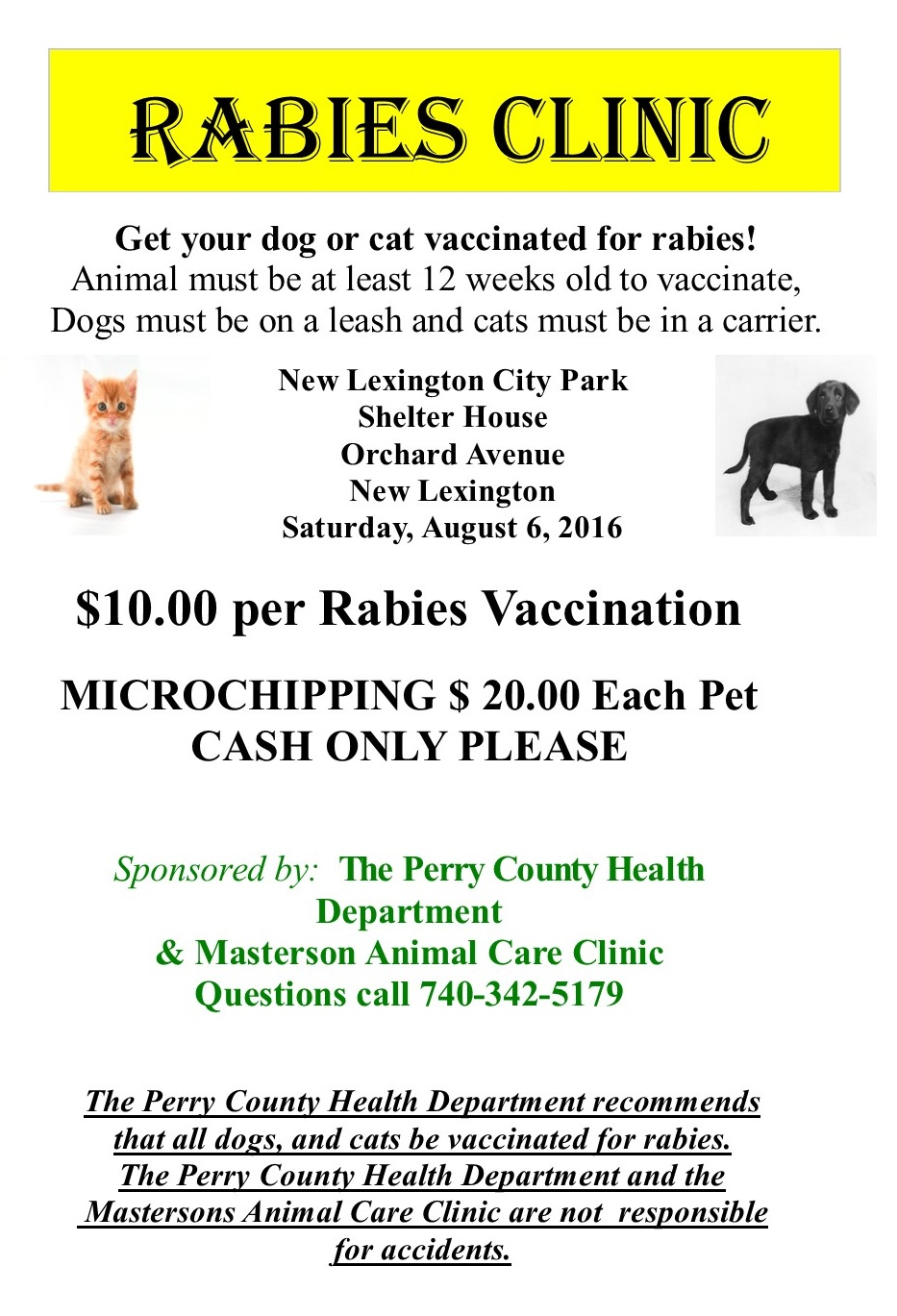 Rabies Program Perry County Health Department